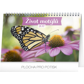 Stolní kalendář Život motýlů 2017, 23,1 x 14,5 cm