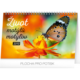 Desk calendar Butterlies 2019, 23,1 x 14,5 cm