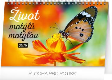 Stolní kalendář Život motýlů – motýlov CZ/SK 2019, 23,1 x 14,5 cm