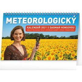 Stolní Meteorologický kalendář s Dagmar Honsovou 2021, 23,1 × 14,5 cm