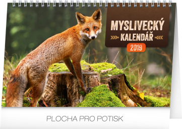 Stolní myslivecký kalendář 2019, 23,1 x 14,5 cm