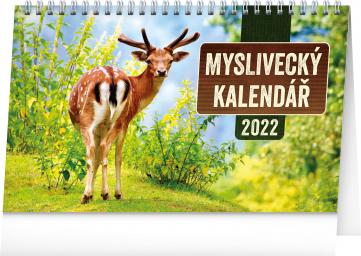 Stolní Myslivecký kalendář 2022, 23,1 × 14,5 cm