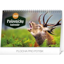 Stolní Poľovnícky kalendár SK 2020, 23,1 × 14,5 cm