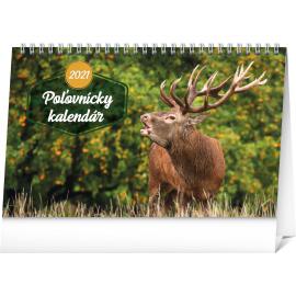 Stolní Poľovnícky kalendár SK 2021, 23,1 × 14,5 cm