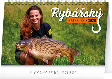 Stolní Rybářský kalendář 2020, 23,1 × 14,5 cm