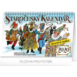 Stolní staročeský kalendář – reedice – Kamila Skopová 2020, 23,1 × 14,5 cm