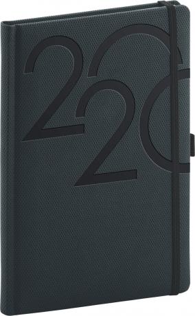 Týdenní diář Ajax 2020, antracitový, 15 × 21 cm
