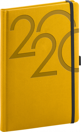 Týdenní diář Ajax 2020, zlatý, 15 × 21 cm