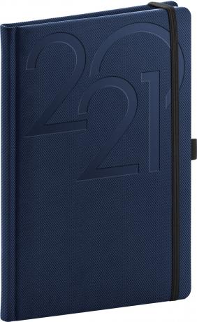Týdenní diář Ajax 2021, modrý, 15 × 21 cm
