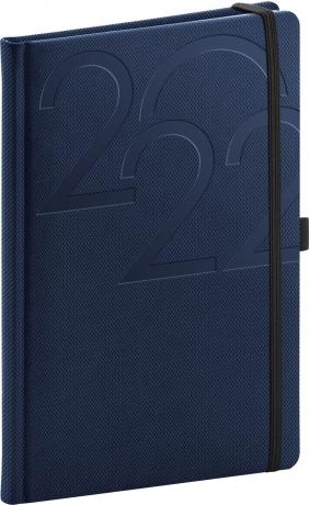 Týdenní diář Ajax 2022, modrý, 15 × 21 cm
