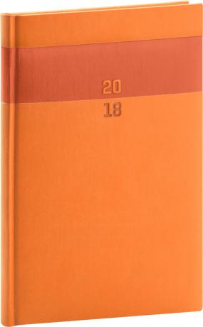Týdenní diář Aprint 2018, oranžový, 15 x 21 cm, A5