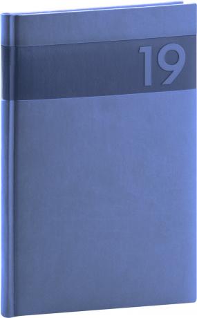 Týdenní diář Aprint 2019, modrý, 15 x 21 cm