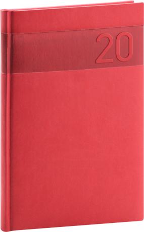 Týdenní diář Aprint 2020, červený, 15 × 21 cm