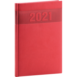 Weekly diary Aprint red 2021, 15 × 21 cm
