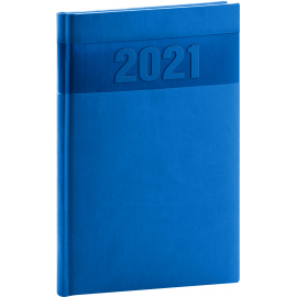 Weekly diary Aprint blue 2021, 15 × 21 cm