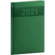 Týdenní diář Aprint 2021, zelený, 15 × 21 cm