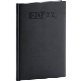 Týdenní diář Aprint 2022, černý, 15 × 21 cm