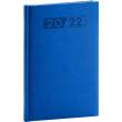 Týdenní diář Aprint 2022, modrý, 15 × 21 cm