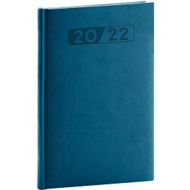 Týdenní diář Aprint 2022, petrolejově modrý, 15 × 21 cm