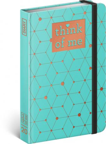 Týdenní diář Atomium – Think of me 2020, 11 × 16 cm