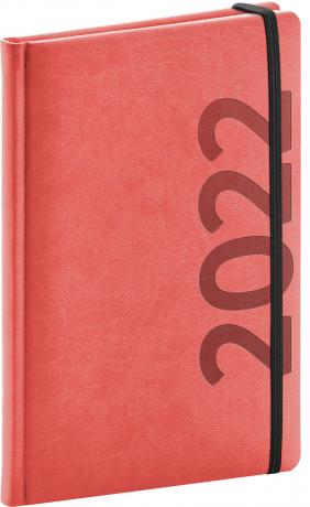 Týdenní diář Avilla 2022, oranžovočerný, antibakteriální, 15 × 21 cm