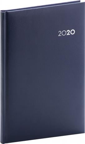 Týdenní diář Balacron 2020, tmavě modrý, 15 × 21 cm