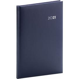 Weekly diary Balacron dark blue 2021, 15 × 21 cm