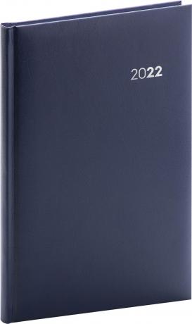 Týdenní diář Balacron 2022, tmavě modrý, 15 × 21 cm