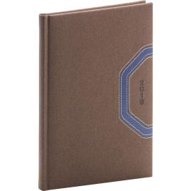 Weekly diary Bern 2018, hnědomodrý, 15 x 21 cm, A5