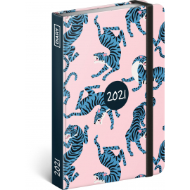 Weekly diary Blue Tiger 2021, 11 × 16 cm