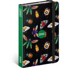 Týdenní diář Brouci 2022, 11 × 16 cm
