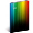 Týdenní diář Cambio 2019, barevný, 15 x 21 cm