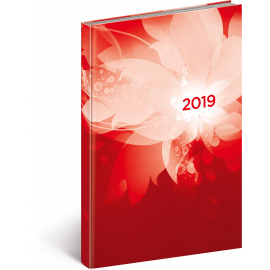 Weekly diary Cambio red 2019, 15 x 21 cm