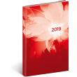 Týdenní diář Cambio 2019, červený, 15 x 21 cm