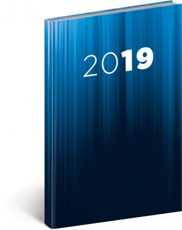 Týdenní diář Cambio 2019, modrý, 15 x 21 cm