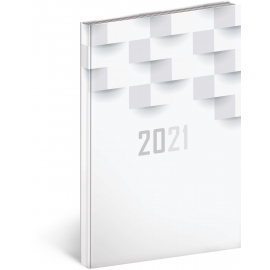 Weekly diary Cambio Classic white 2021, 15 × 21 cm