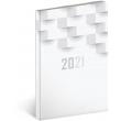 Týdenní diář Cambio Classic 2021, bílý, 15 × 21 cm