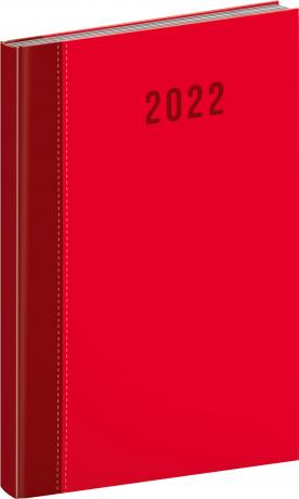 Týdenní diář Cambio Classic 2022, červený, 15 × 21 cm