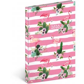 Weekly diary Cambio Fun 2020, flamingo 15 × 21 cm