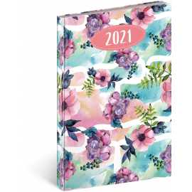 Weekly diary Cambio Fun Flowers 2021, 15 × 21 cm