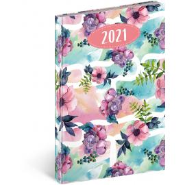 Weekly diary Cambio Fun Flowers 2021, 15 × 21 cm
