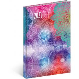 Weekly diary Cambio Fun Mandala 2021, 15 × 21 cm