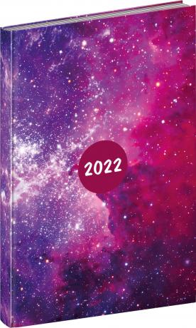 Týdenní diář Cambio Fun 2022, Galaxy, 15 × 21 cm