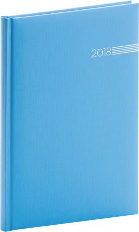 Týdenní diář Capys 2018, světle modrý, 15 x 21 cm, A5