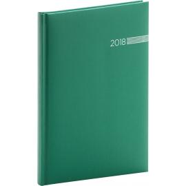 Týdenní diář Capys 2018, zelený, 15 x 21 cm, A5