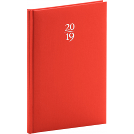 Weekly diary Capys red 2019, 15 x 21 cm