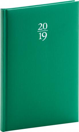 Týdenní diář Capys 2019, zelený, 15 x 21 cm