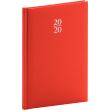 Týdenní diář Capys 2020, červený, 15 × 21 cm