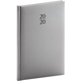 Weekly diary Capys silver 2020, 15 × 21 cm