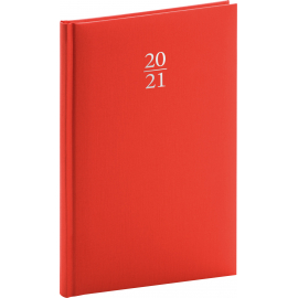 Weekly diary Capys red 2021, 15 × 21 cm